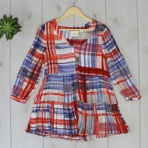 Anthropologie Maeve Lila Tiered Tunic Top